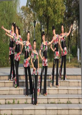 广场舞遇上你是我的缘:来宾市广场健身队广场舞:遇见图片